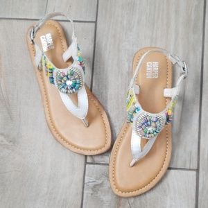 Girl's leather beaded sandal